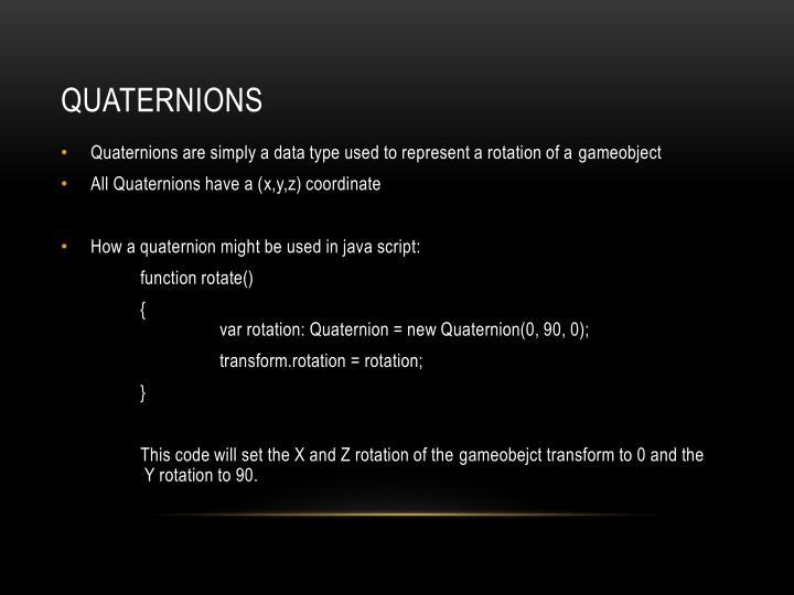 Quaternions