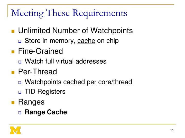 Meeting These Requirements