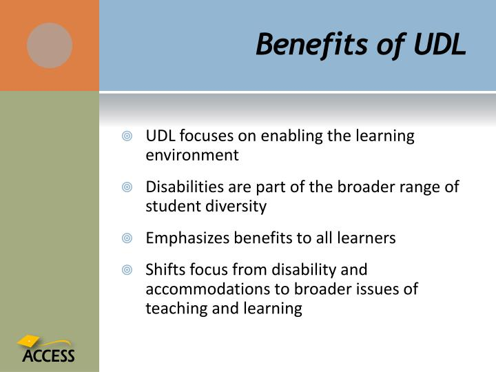 Benefits of UDL