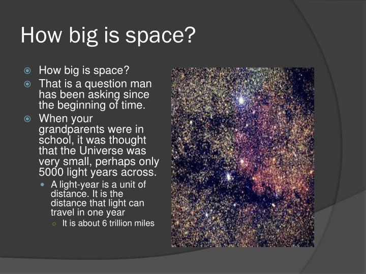 How big is space