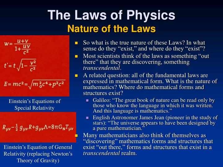 The Laws of Physics