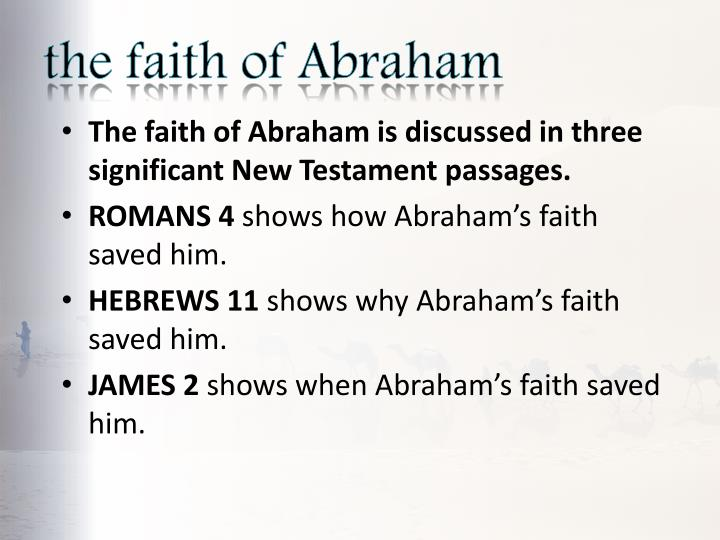 The faith of abraham1
