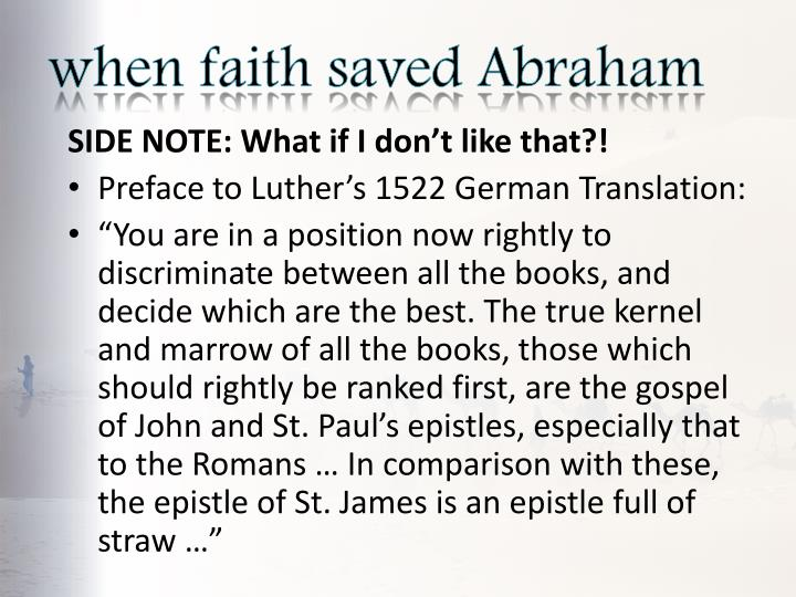 when faith saved Abraham