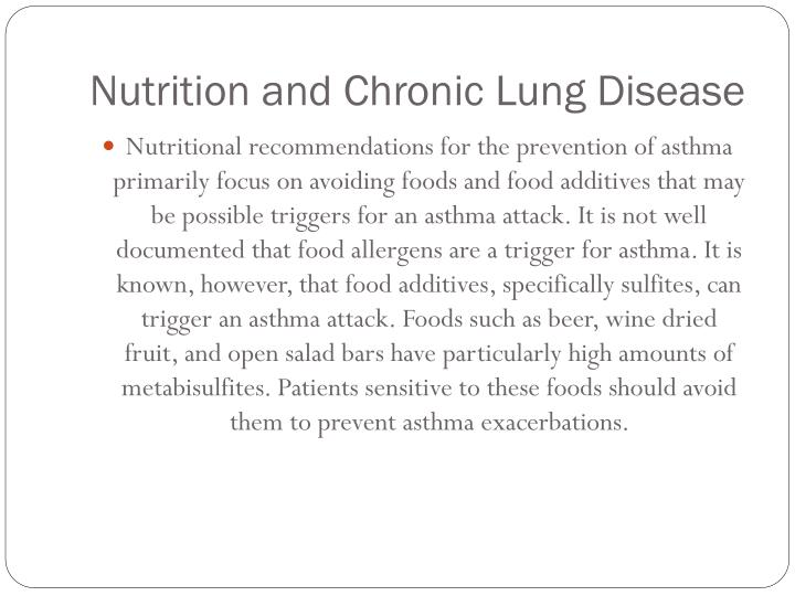 Nutrition and Chronic Lung Disease