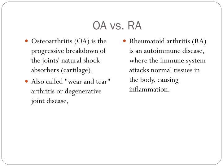 OA vs. RA