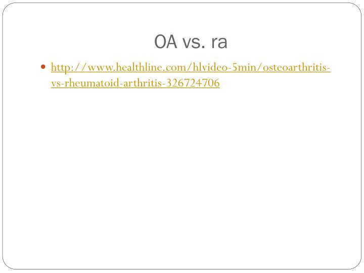 OA vs.