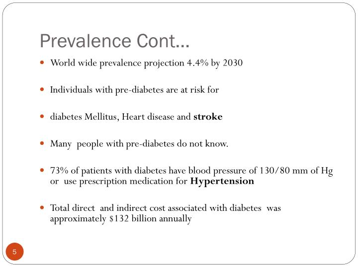 Prevalence Cont…