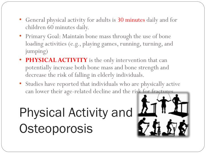 General physical activity for adults is