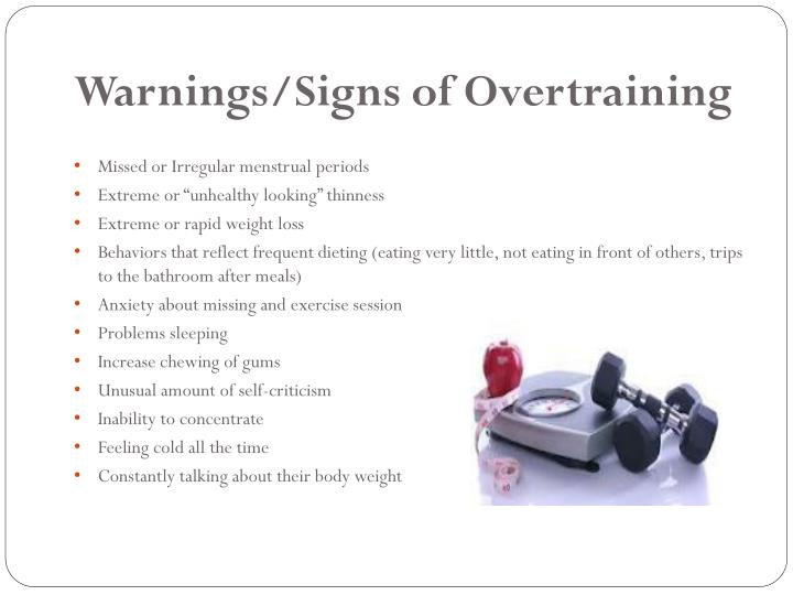 Warnings/Signs of Overtraining