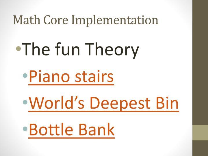Math Core Implementation