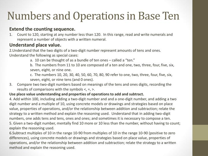 Numbers and Operations in Base Ten