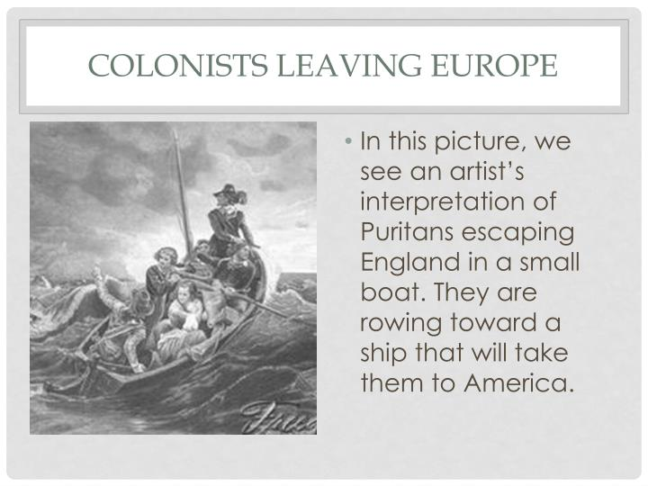 Colonists Leaving Europe