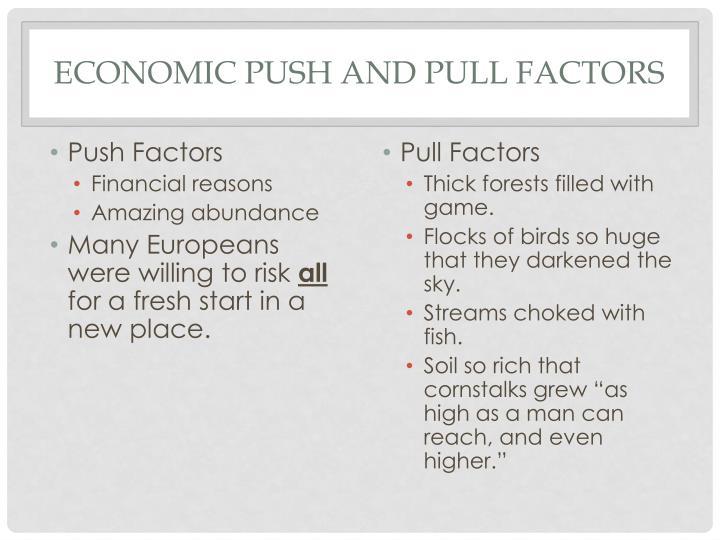Economic Push and Pull Factors