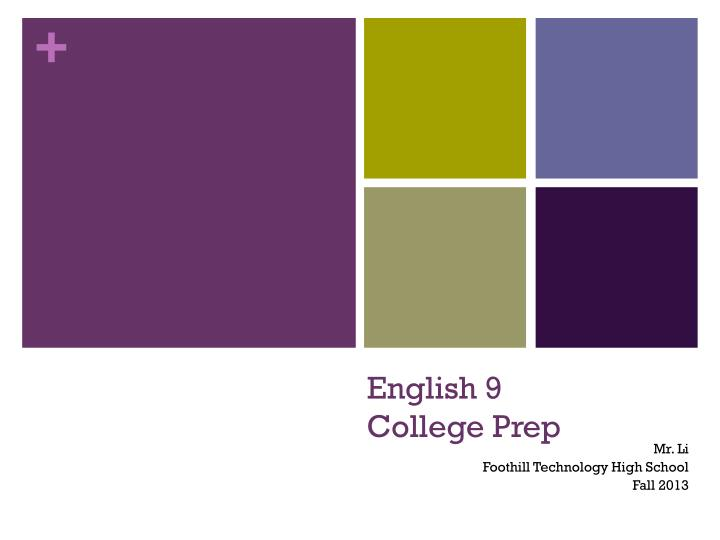 English 9 college prep