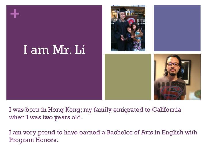 I am Mr. Li