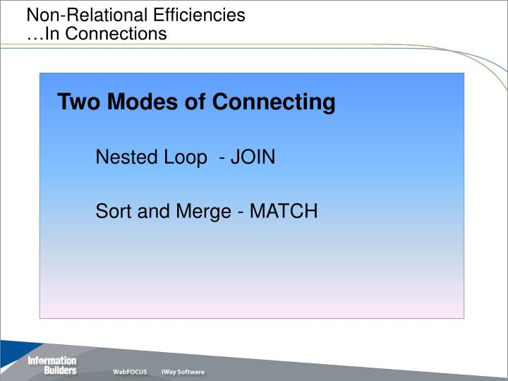 Non-Relational Efficiencies