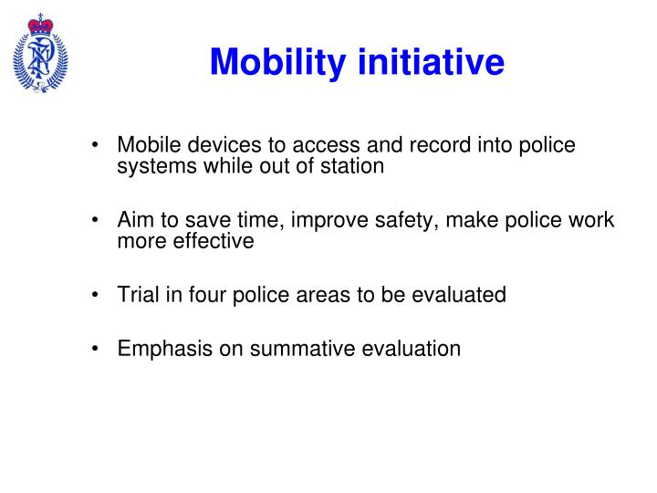 Mobility initiative