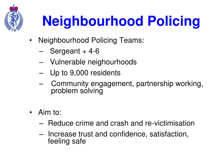 Neighbourhood Policing