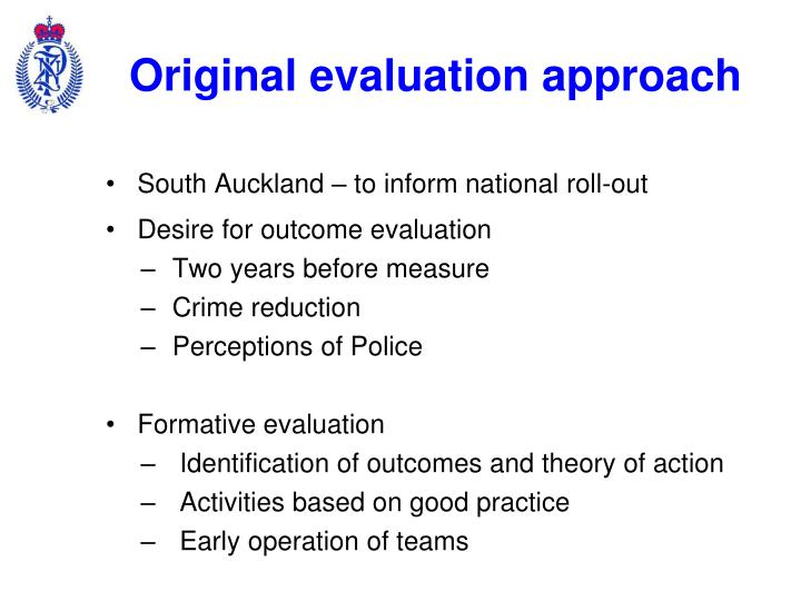 Original evaluation approach