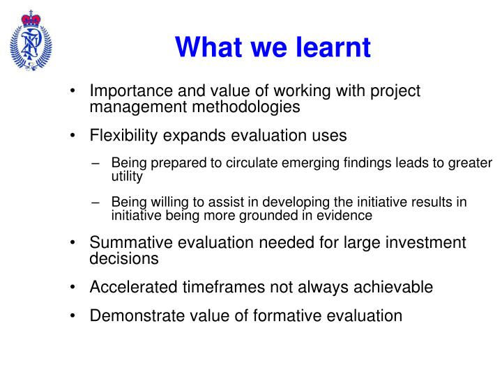 What we learnt