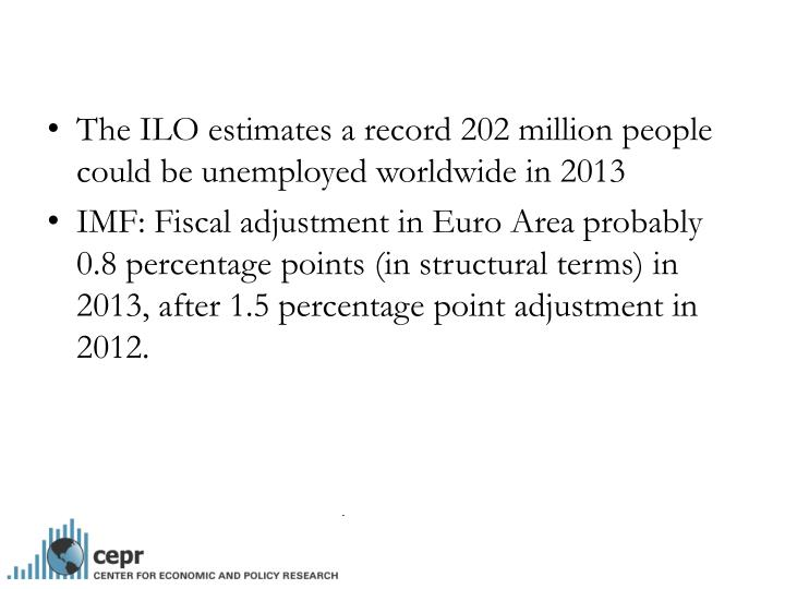 The ILO estimates a record 202 million people could be