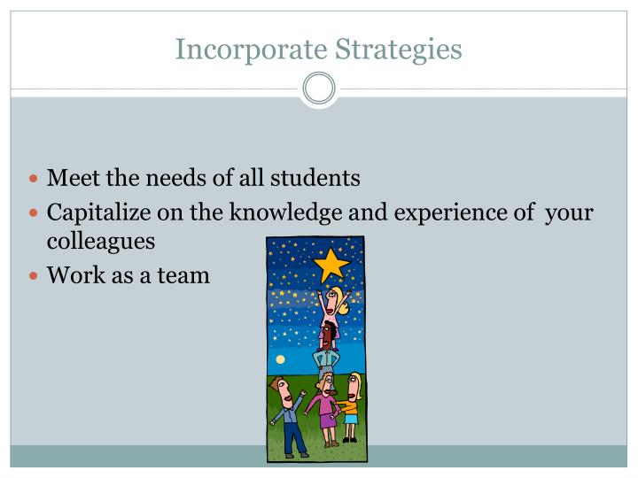 Incorporate Strategies
