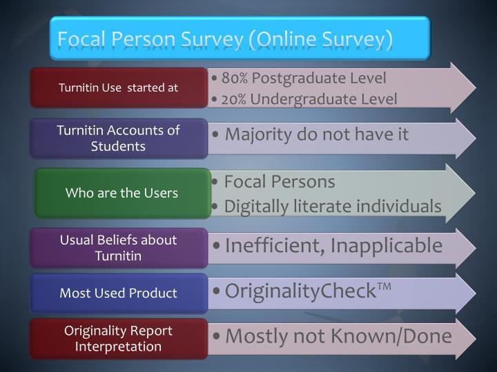Focal Person Survey (Online Survey)