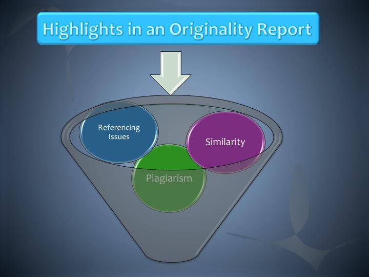 Highlights in an Originality Report