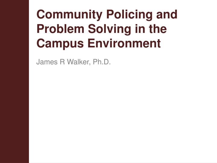 successful community problem solving