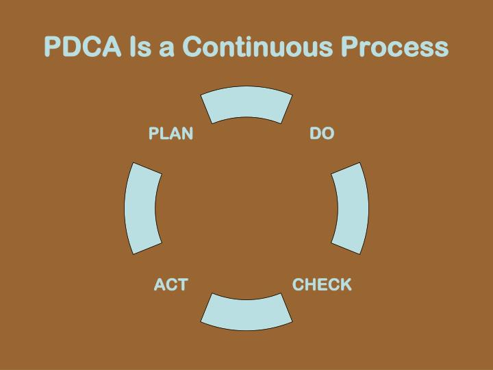 PDCA Is a Continuous Process