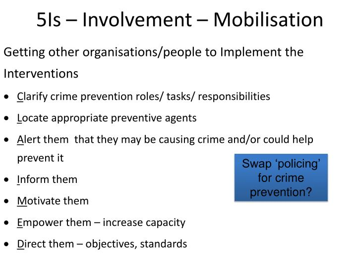 5Is – Involvement – Mobilisation