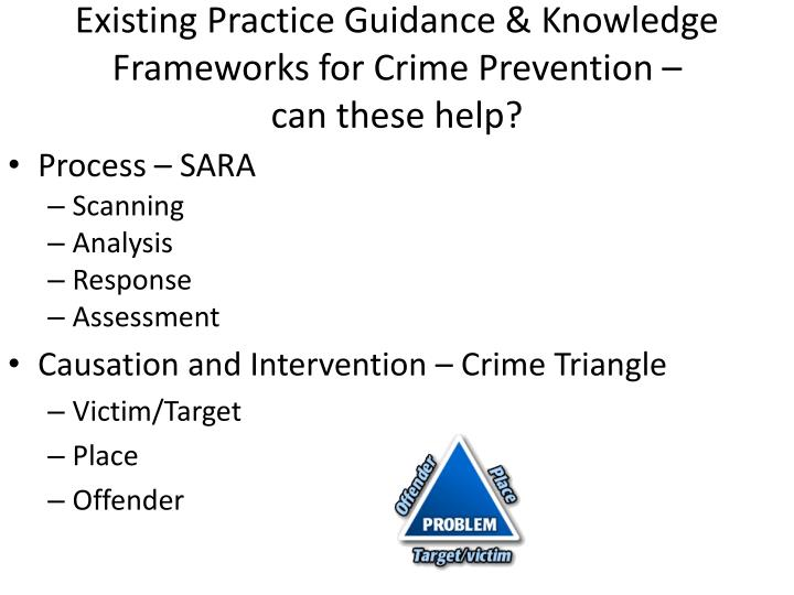 Existing Practice Guidance & Knowledge Frameworks for