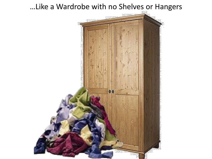 …Like a Wardrobe with no Shelves or Hangers