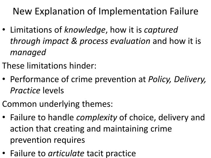 New Explanation of Implementation Failure