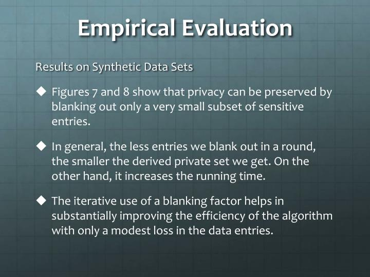 Empirical Evaluation