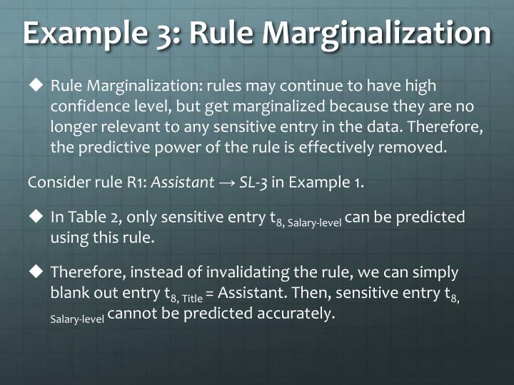 Example 3: Rule Marginalization