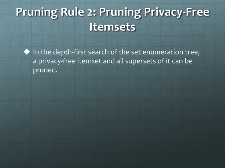 Pruning Rule 2: Pruning Privacy-Free Itemsets