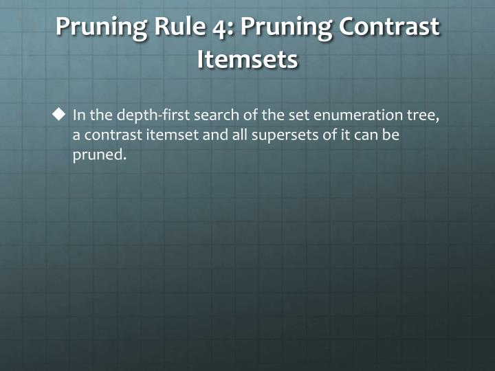Pruning Rule 4: Pruning Contrast Itemsets