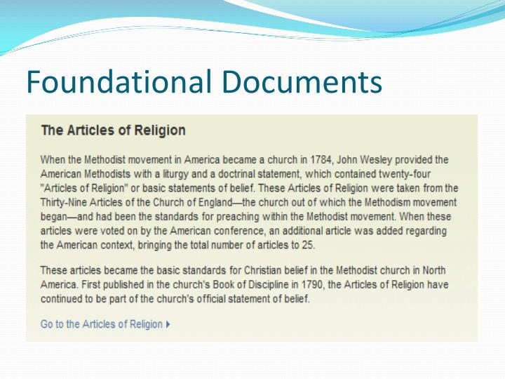 Foundational Documents