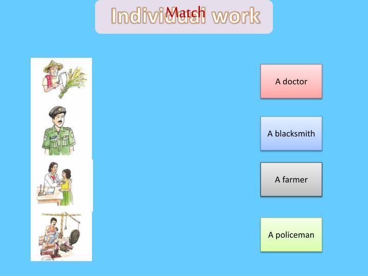 Individual work