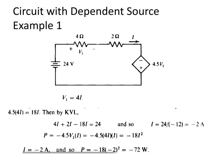 Circuit with Dependent Source Example 1