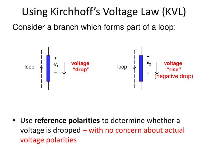 Using kirchhoff s voltage law kvl