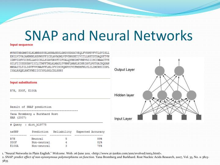 SNAP and Neural Networks