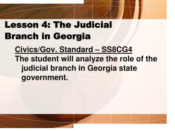 Lesson 4: The Judicial