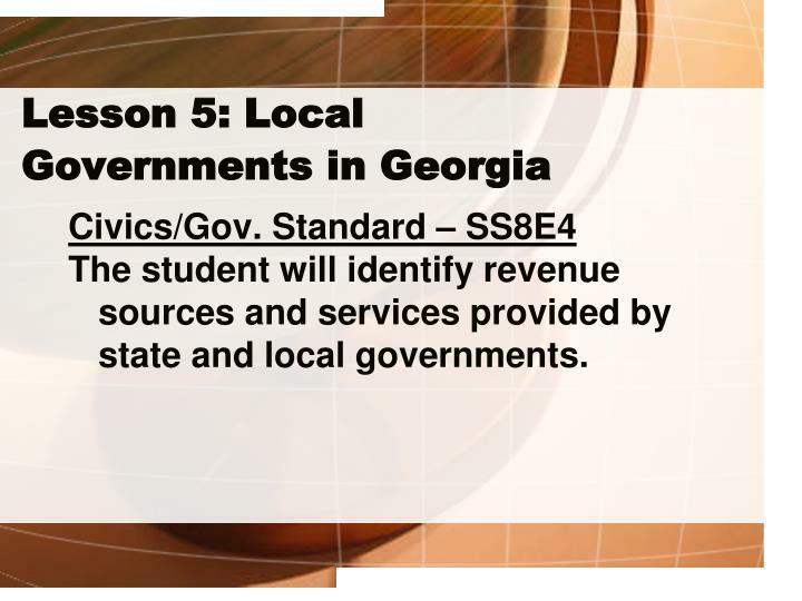 Lesson 5: Local