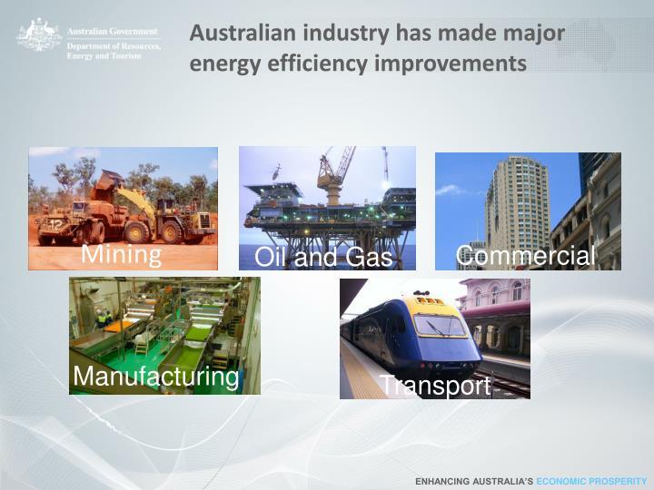 Australian industry has made major energy efficiency improvements