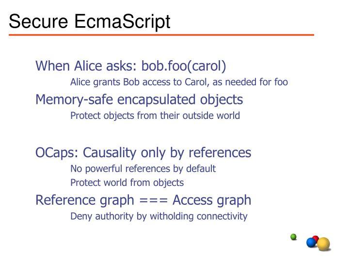 Secure EcmaScript