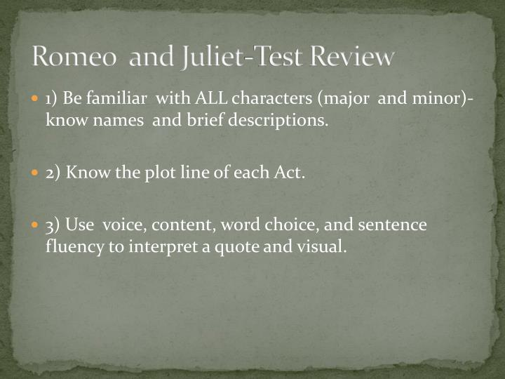 Romeo  and Juliet-Test Review