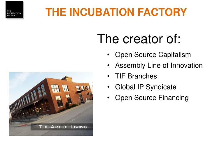 THE INCUBATION FACTORY