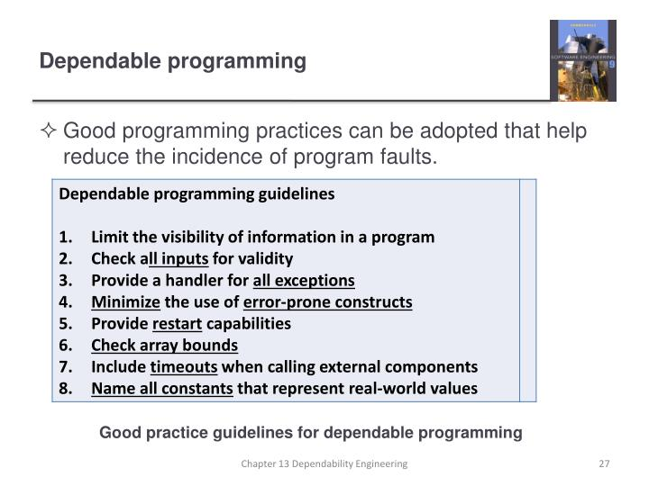 Dependable programming